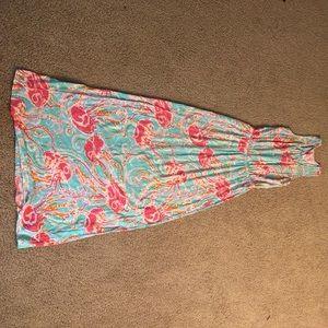 HTF Lilly Pulitzer Jellies Be Jammin Maxi Dress M
